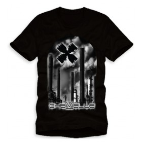 BLACK SMOKE STACK TEE